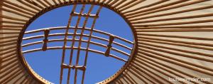 Apex of yurt roof