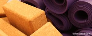 Yoga mats and yoga blocks